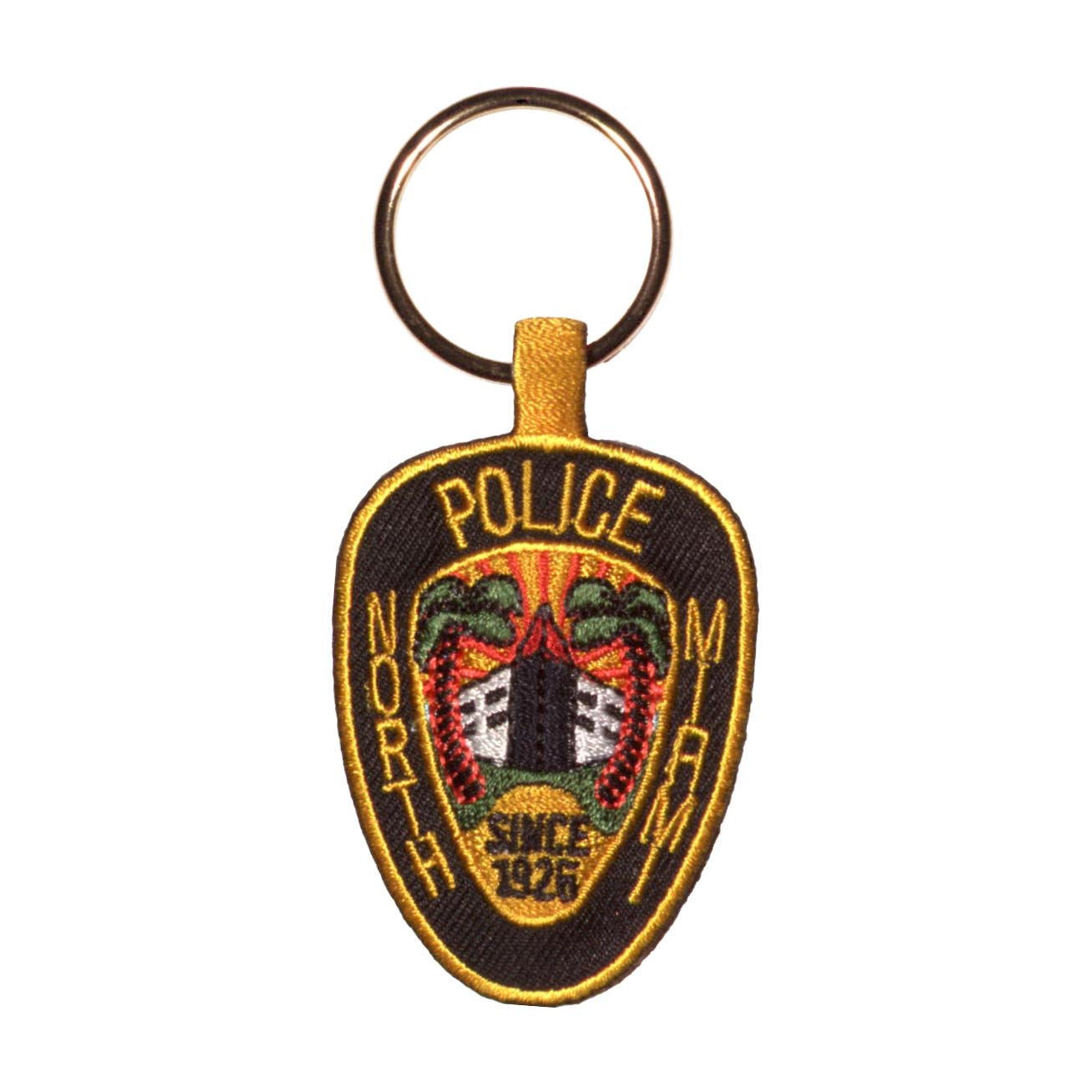 Embroidered key fob