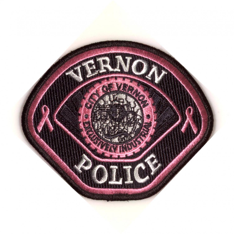 Pink Awareness Police Patch