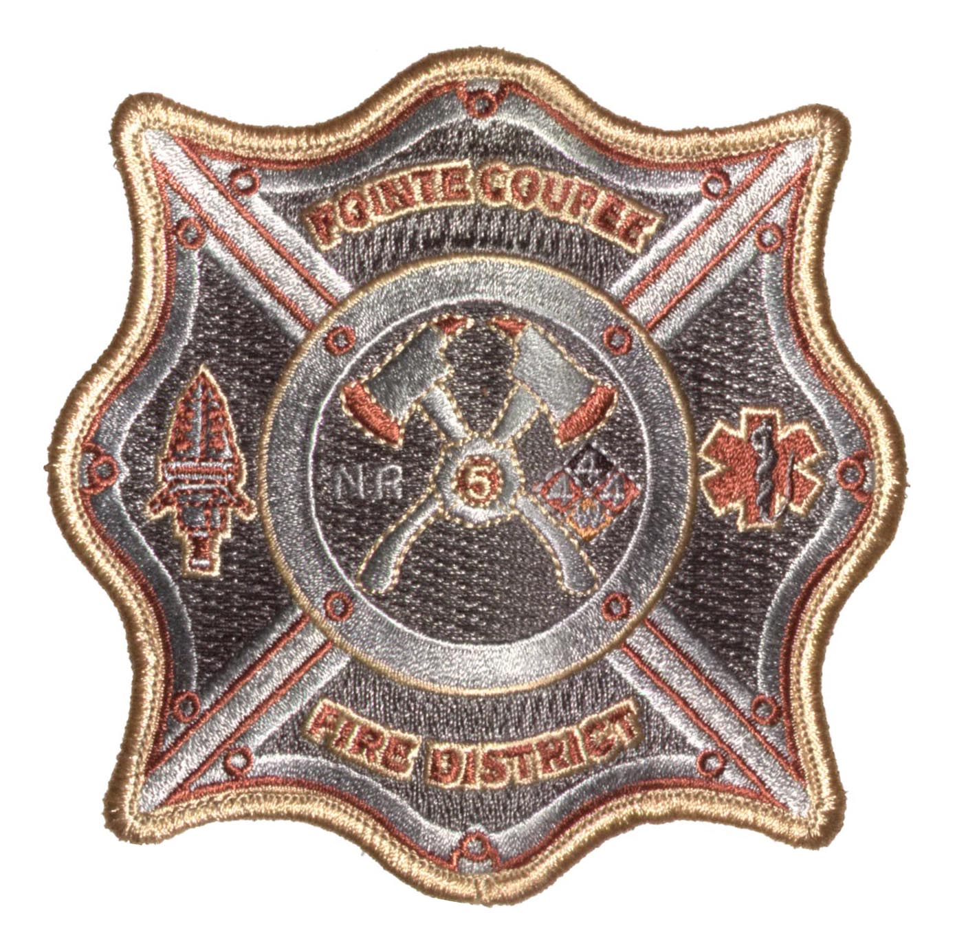 Custom Fire Embroidered Emblems