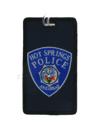 Custom police luggage tag