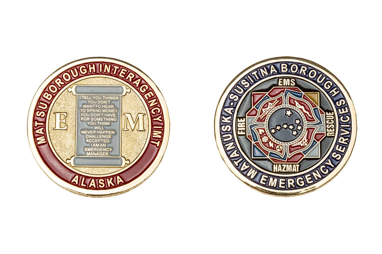 Custom metal EMS coins