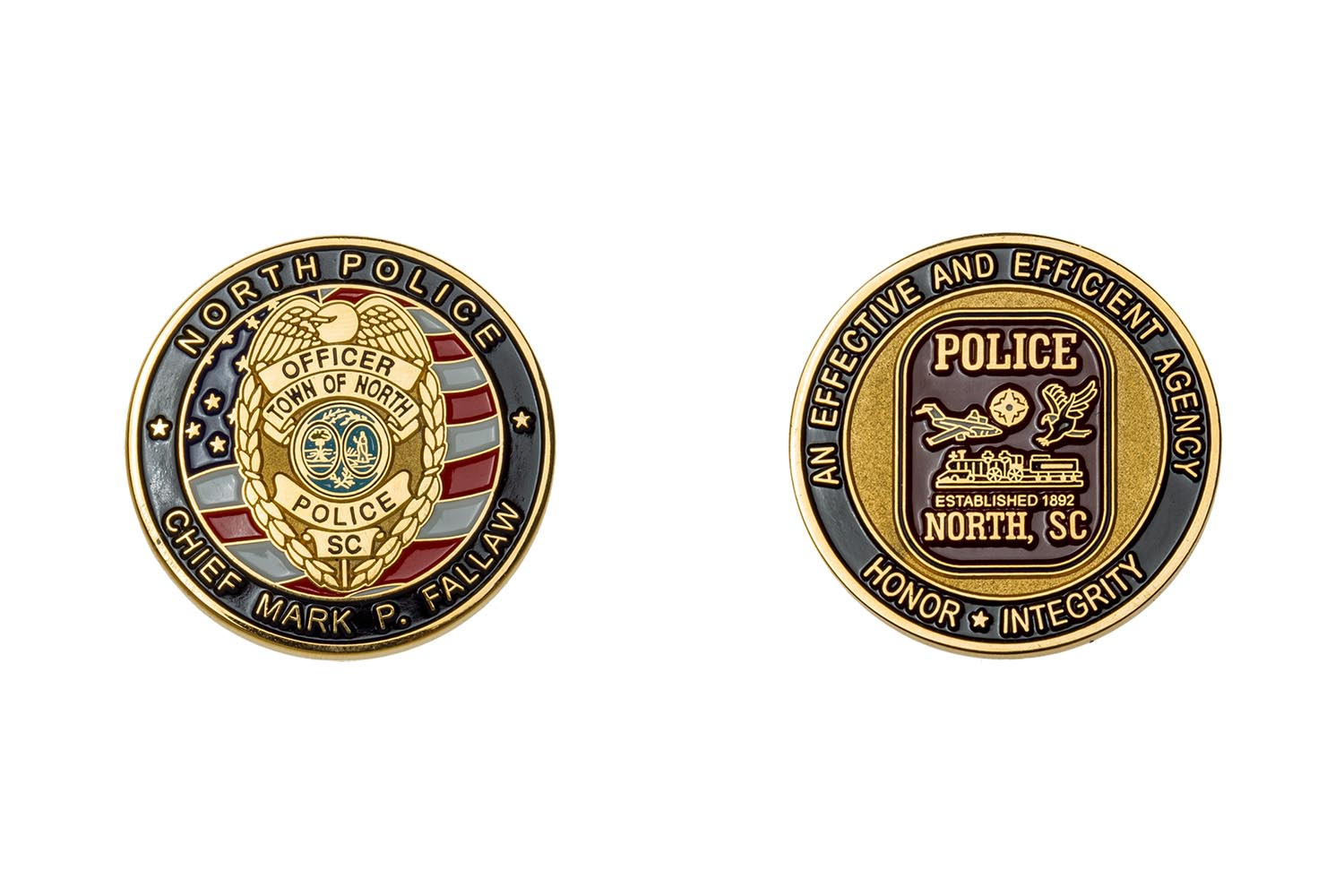 Metal police coin