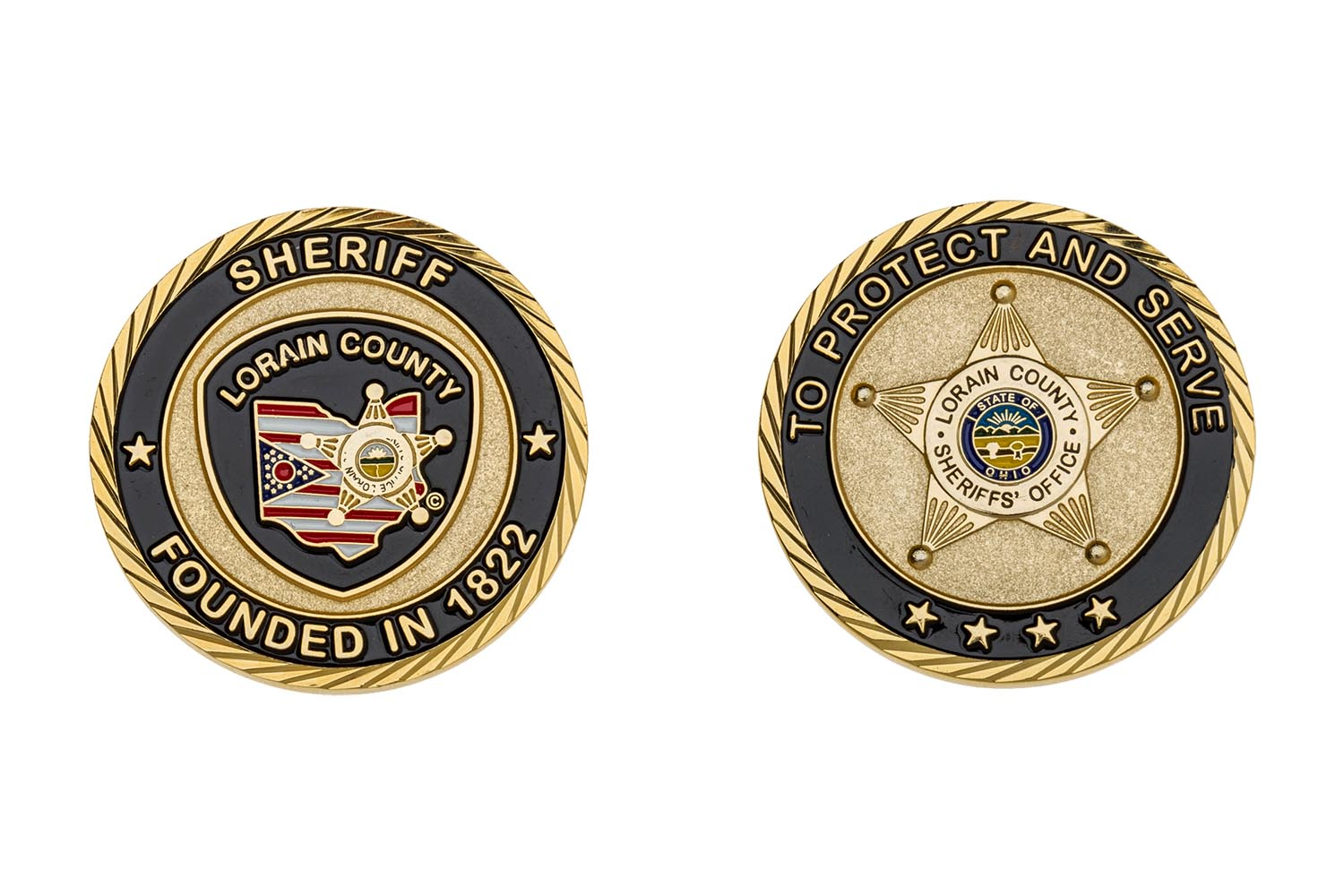 Metal sheriff coins