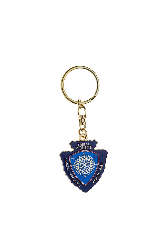 Custom police metal keychain
