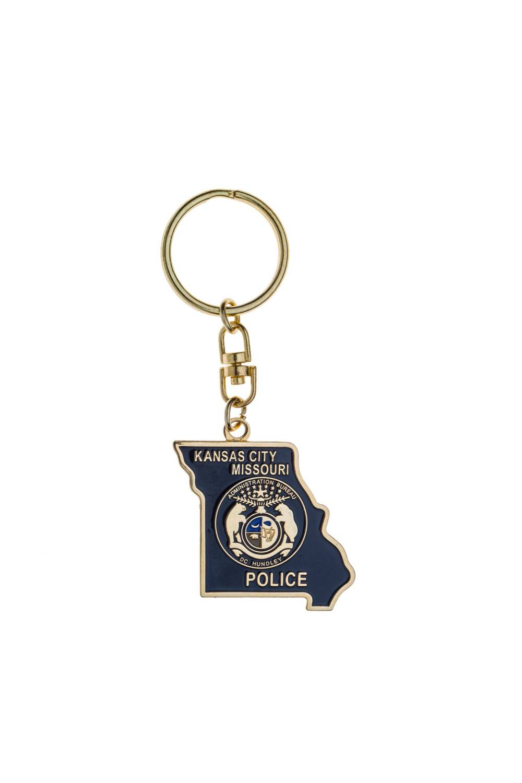 Custom police metal keychains