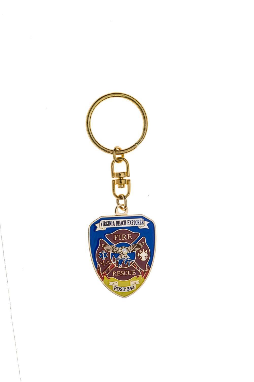 Fire scramble metal keychains