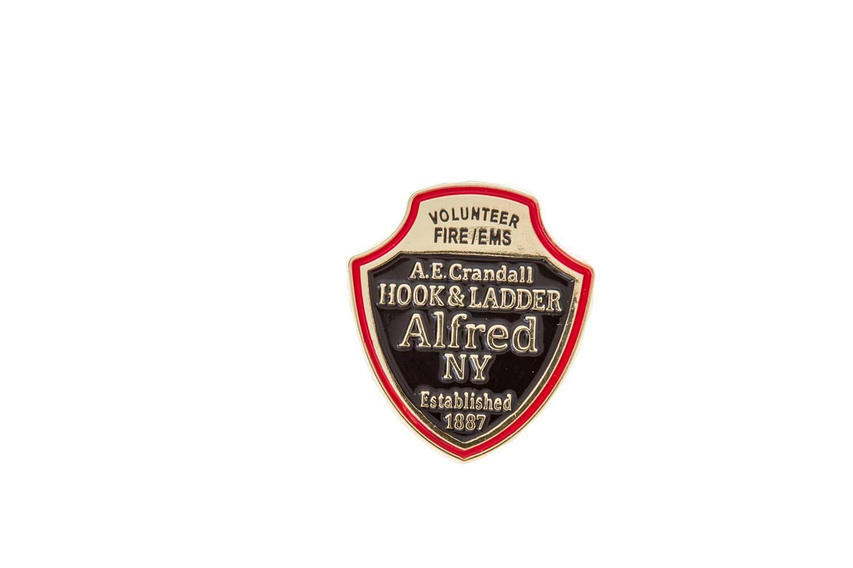 Fire department lapel pin