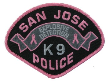 PInk K9 Police Patches