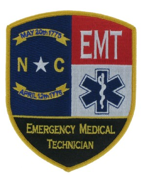 EMT Embroidered Emblem