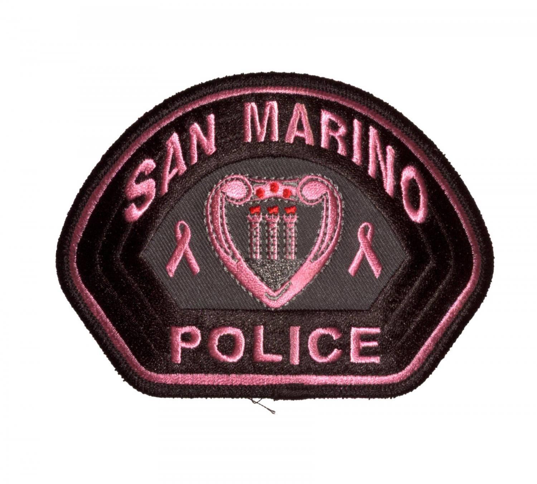Pink Embroidered Emblem