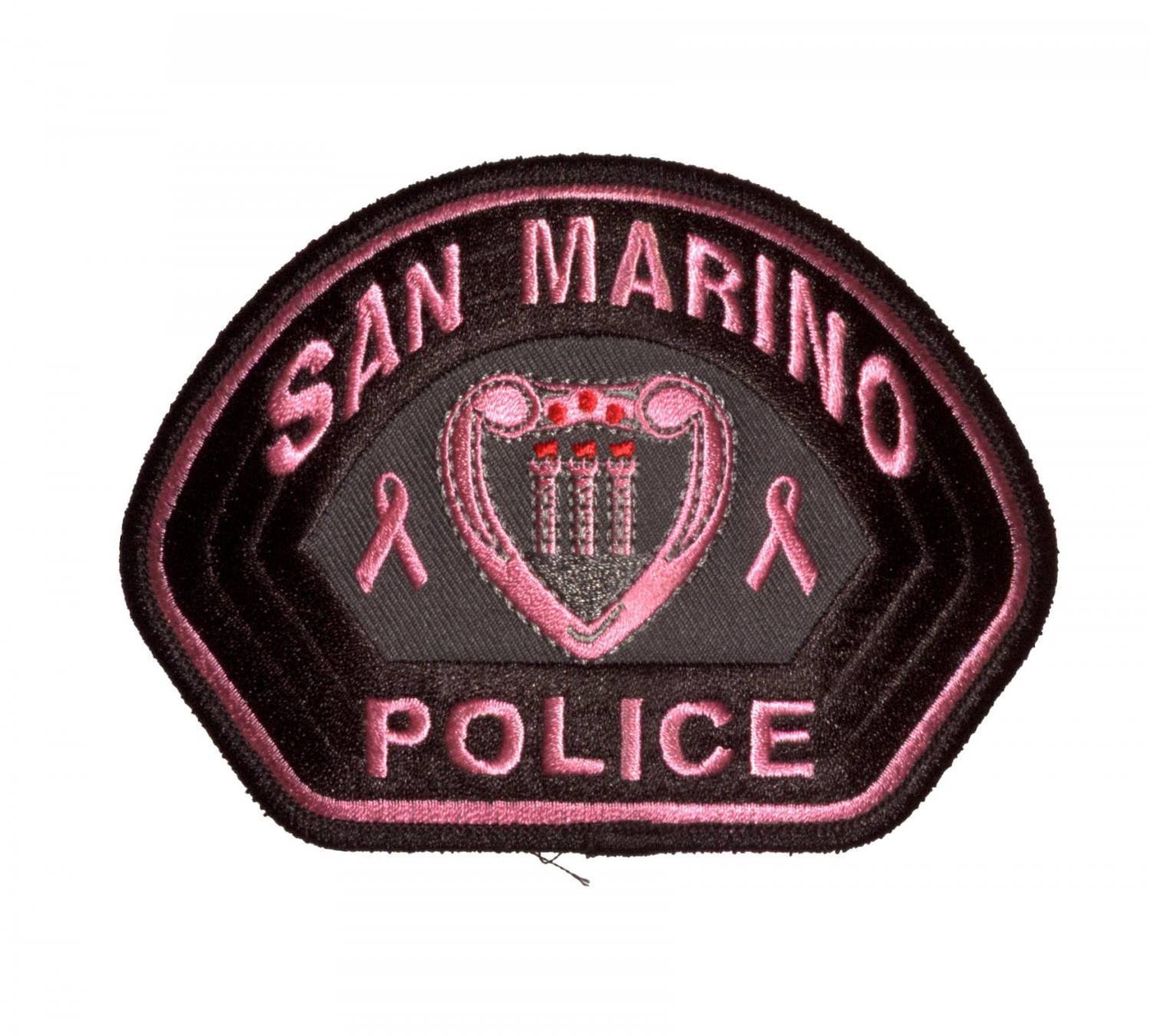 Pink Embroidered Emblem