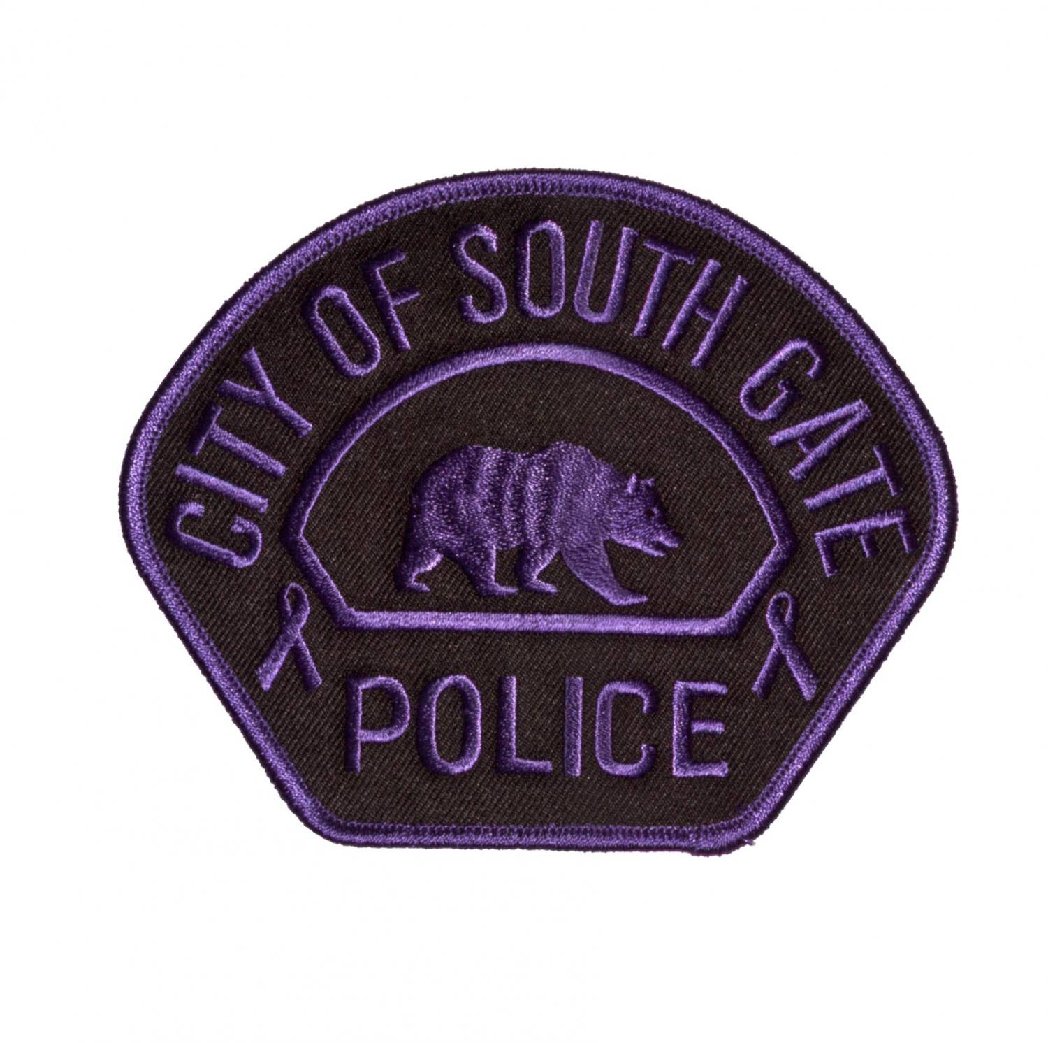 Purple Police Patch