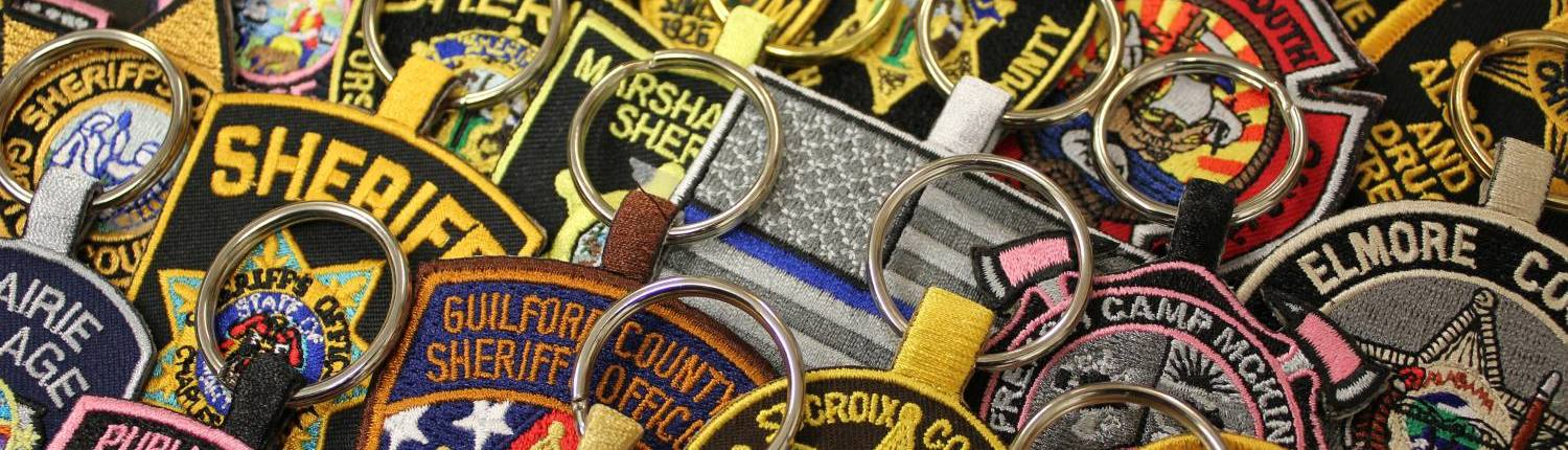 EMBROIDERED KEY FOBS