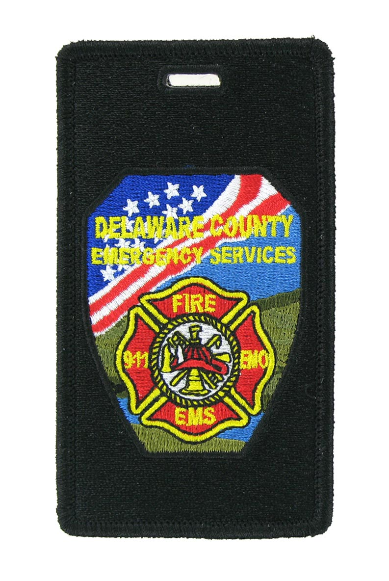 Fire department luggage tag