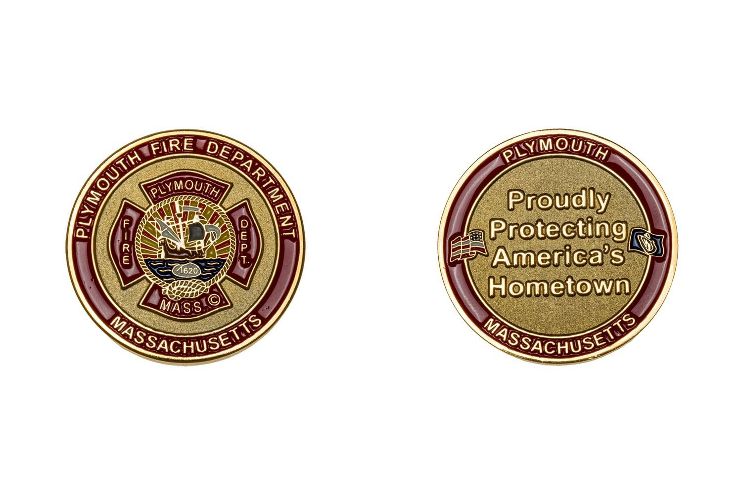 Custom metal fire department coins