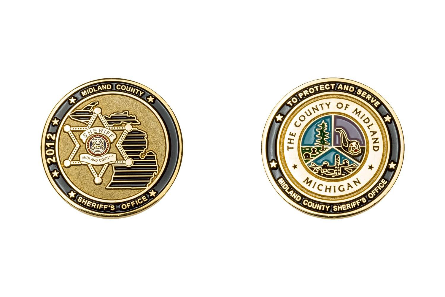 Metal sheriff's coins