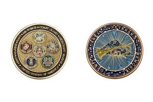 Metal military coins