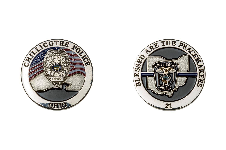 Custom metal police coins