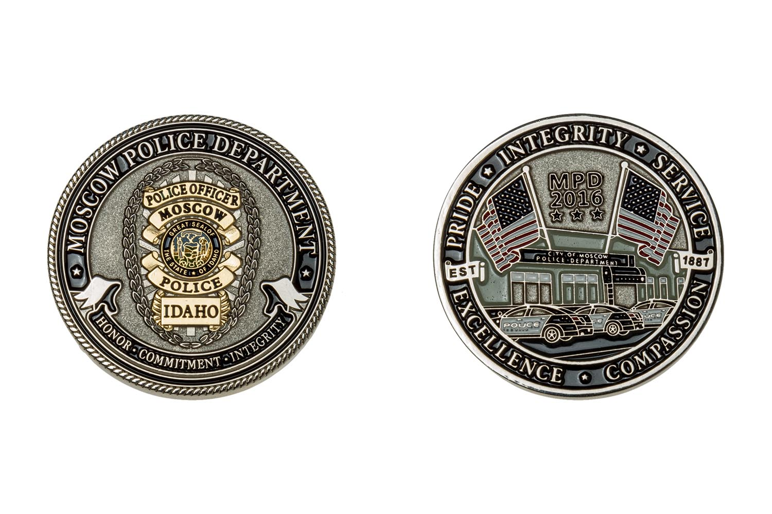 Custom metal police coins
