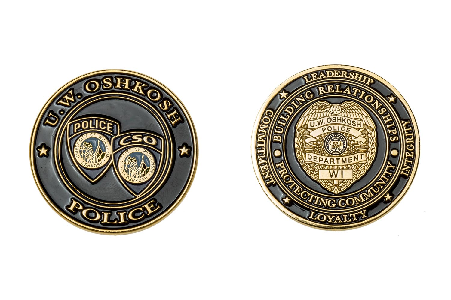 Ec145 university of wisconsin the emblem authority for Military coin design template