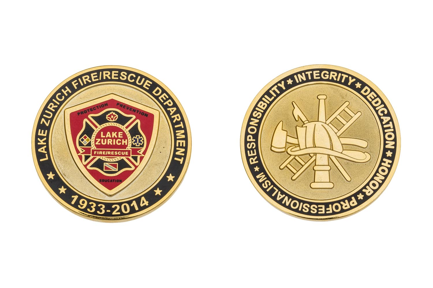 Metal fire coins