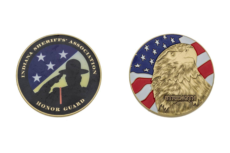 Custom metal sheriff coins