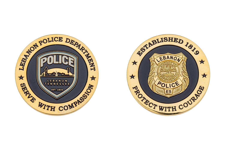 Custom police metal coins