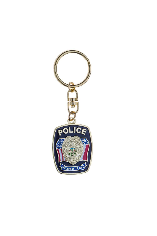 metal police keychain