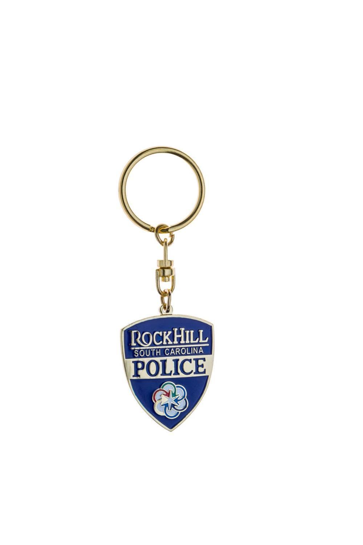Police metal keychain