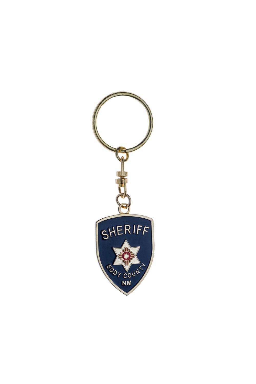 Metal sheriff keychain