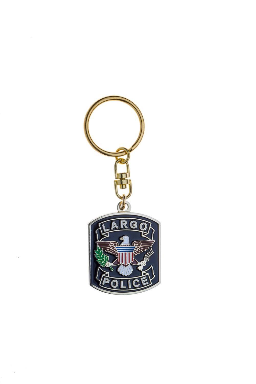 Custom metal police keychains
