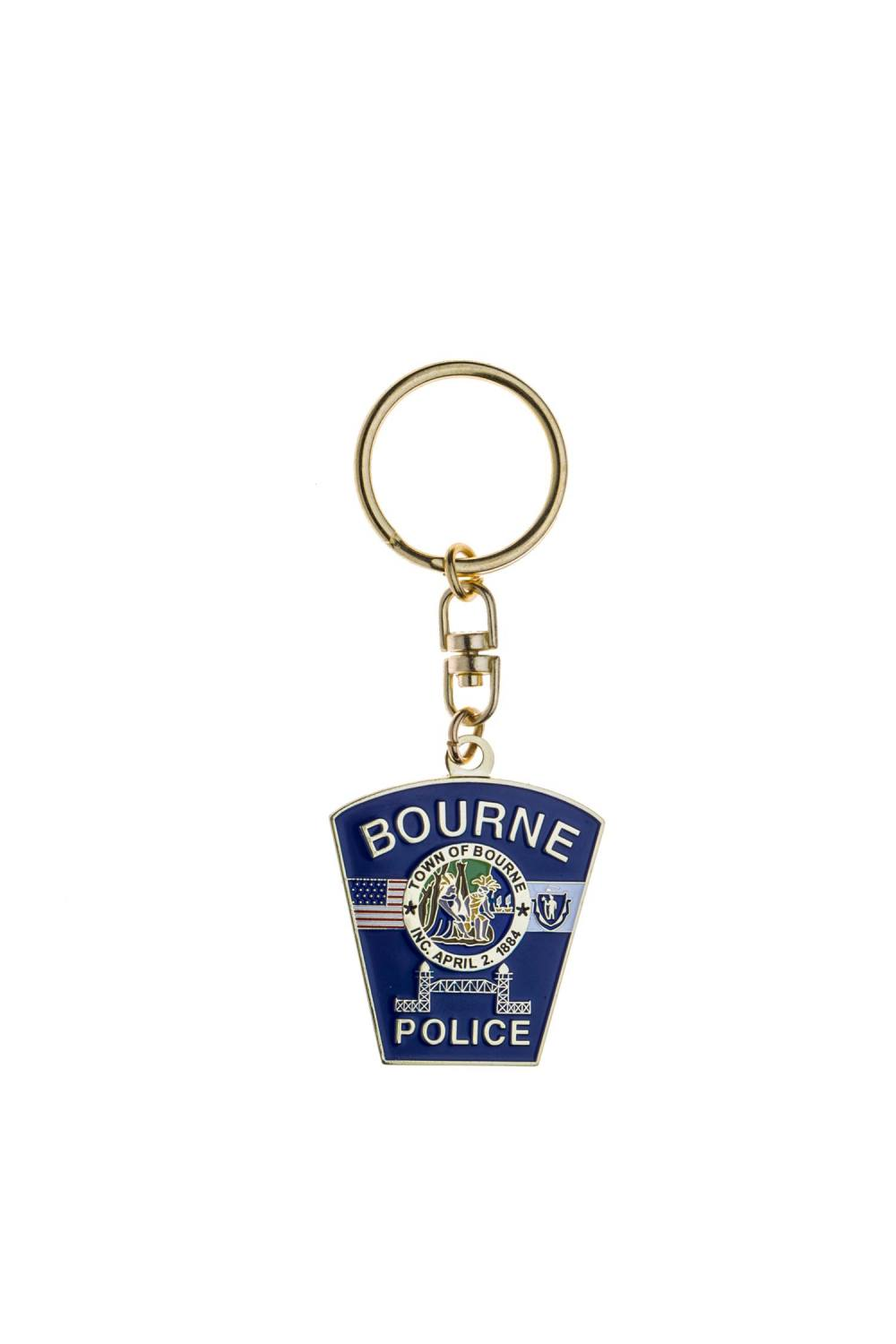 Metal police keychains