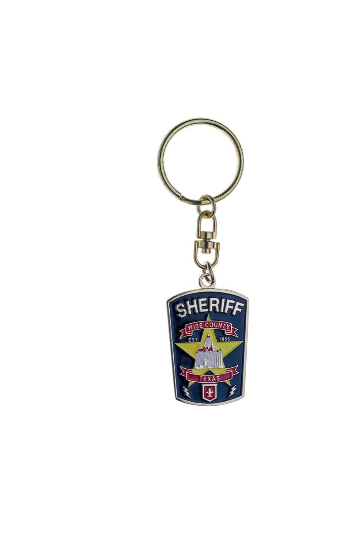 Metal sheriff keychains