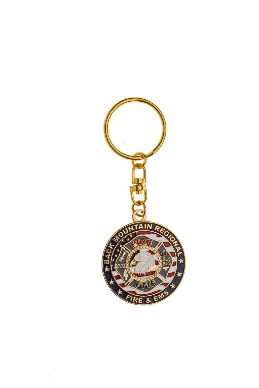 Custom metal rescue keychains