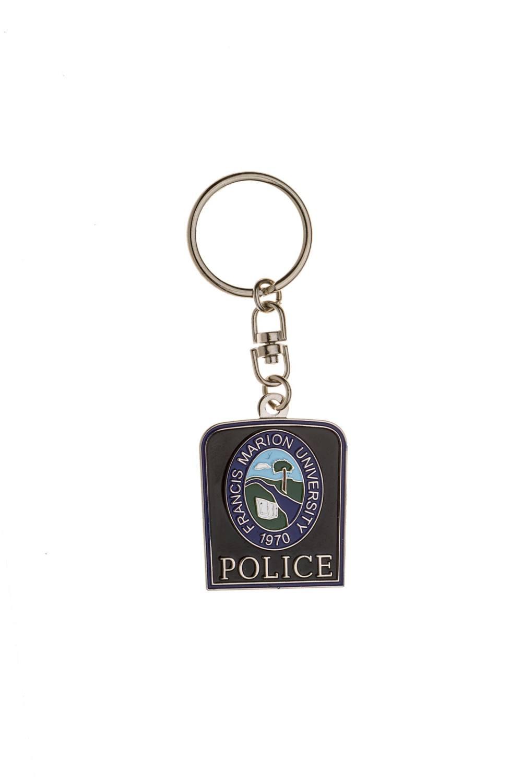 Metal police keychains