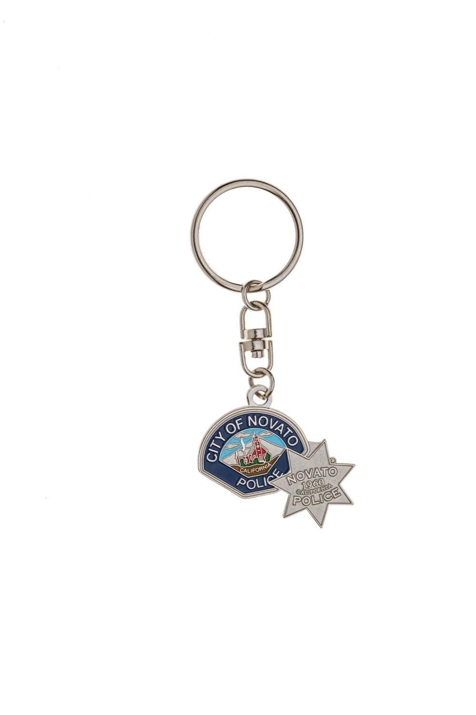 Metal custom police keychains