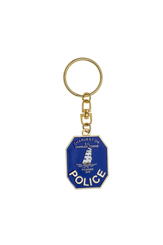 Custom metal police keychain