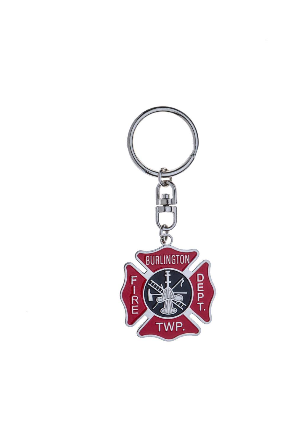 Fire scramble metal keychain