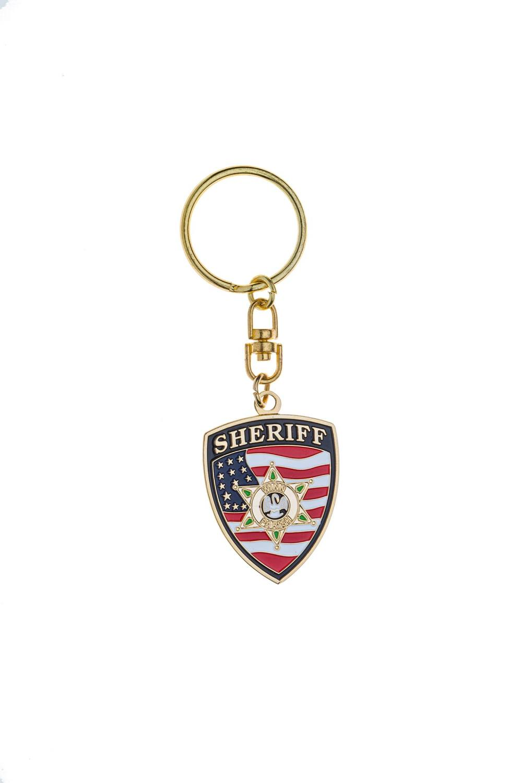 Sheriff metal keychain
