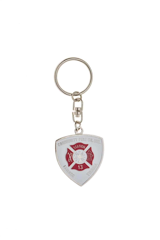 Custom fire metal keychain