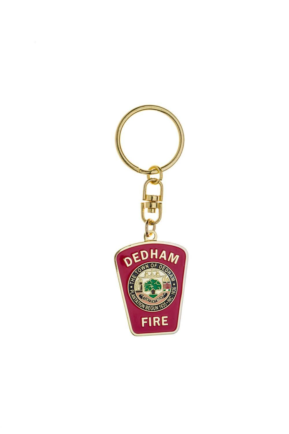 Metal Fire dept Keychain