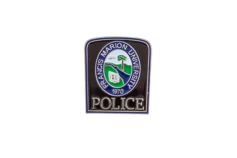 Metal police lapel pin