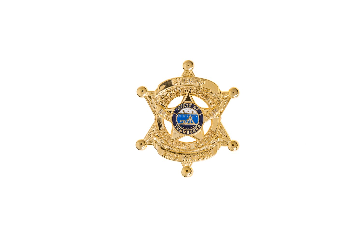 Sheriff badge lapel pin