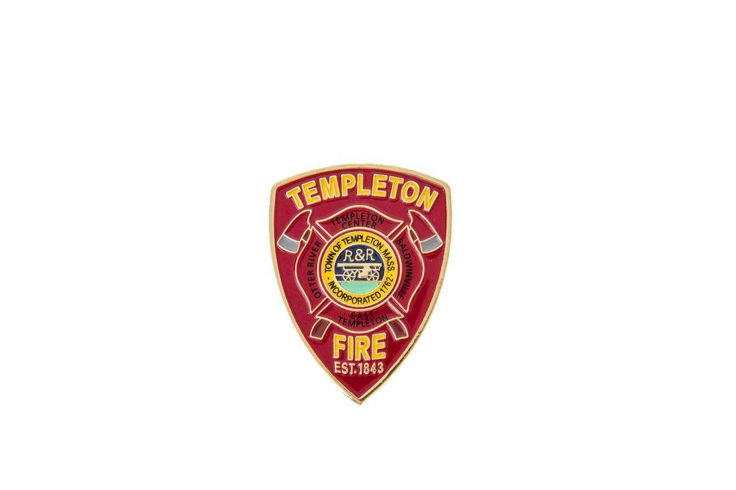 Fire department lapel pins