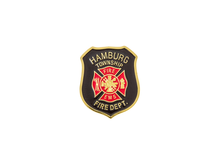 Metal fire department lapel pins