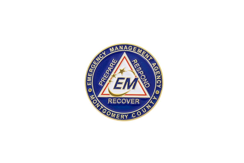 EMS metal lapel pins
