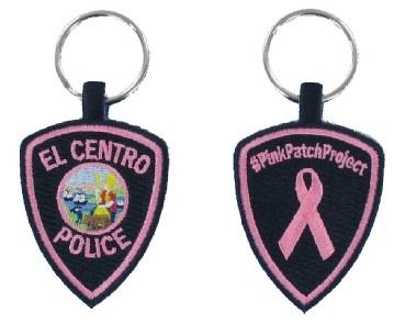 Pink Police Emnbroidered Key Fob