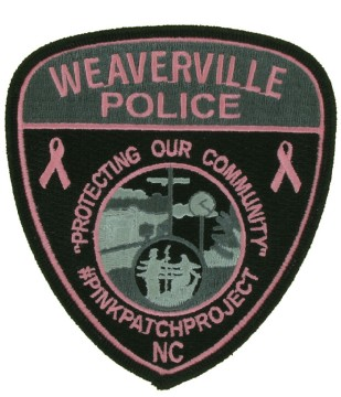 Pink Police Embroidered Emblem