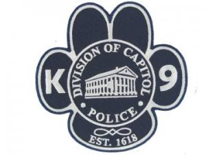 K9 Police Embroidered Patch