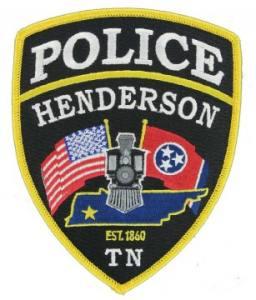 embroidered police emblem
